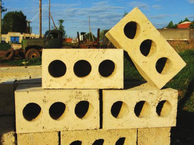 Пустотные опилкобетонные блоки