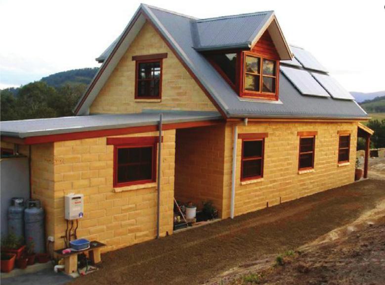 Дом из блоков Timbercrete