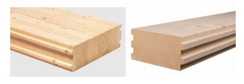 Элементы массивных перекрытий: слева – с вертикальным, справа – с горизонтальным                              расположением слоёв при эксплуатации.